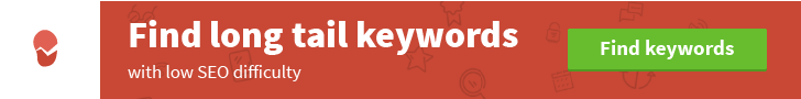 KWFinder - find long tail keywords with low SEO difficulty