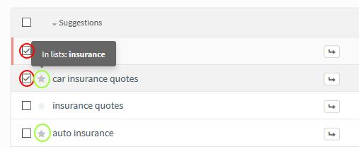 kwfinder guide keywords in list