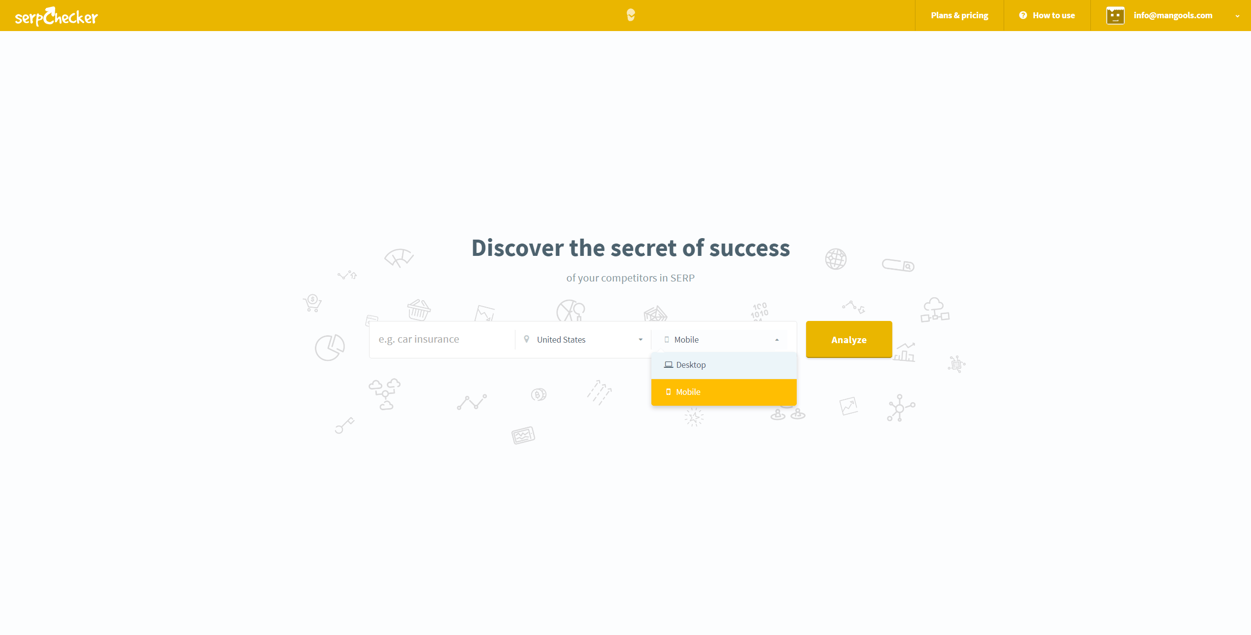 analyse serp desktop mobile results