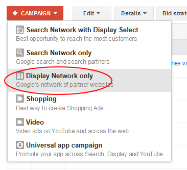 google adwords campaign setup