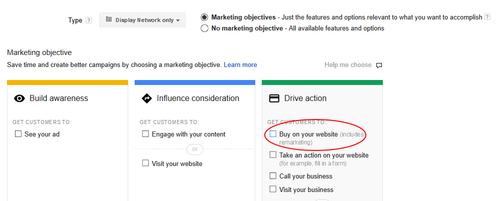 adwords remarketing goal