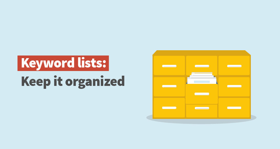 kwfinder keyword lists organization