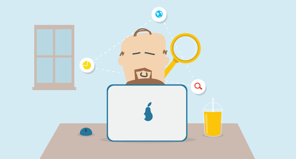 keyword research guy searching