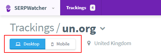 mobile results rank tracking tool