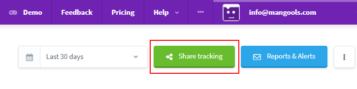 rank tracking online reports