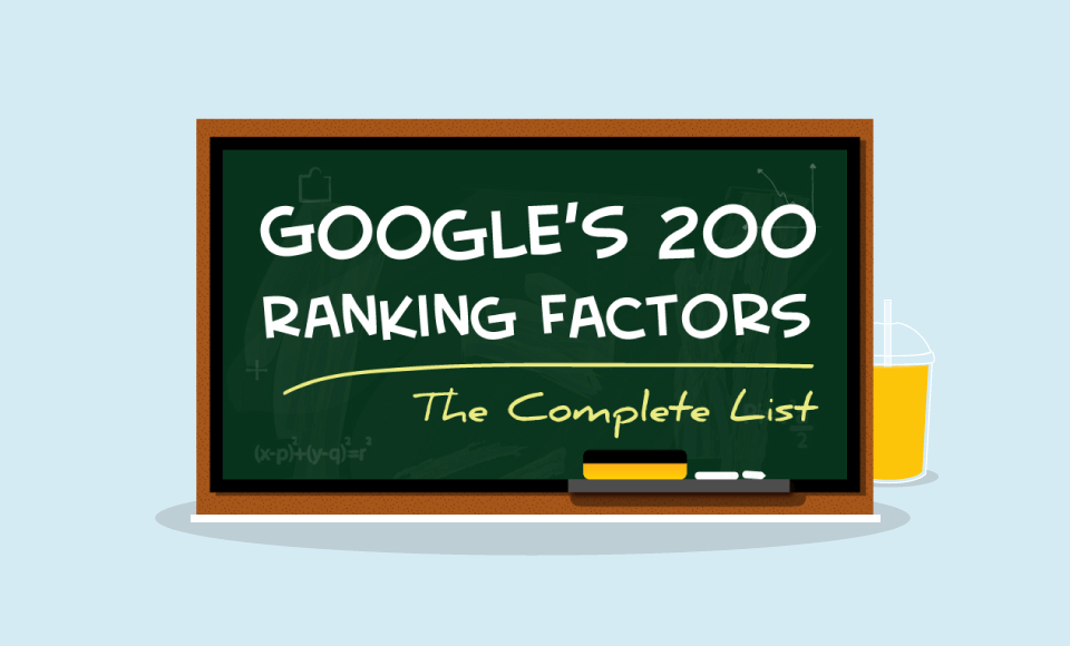 Google's ranking factors infographic
