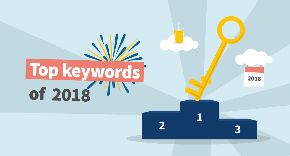 Top 100 keywords of 2018