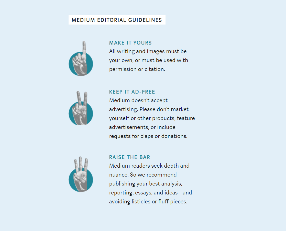 Medium guidelines
