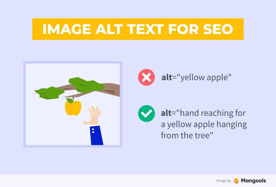 Image alt text for SEO