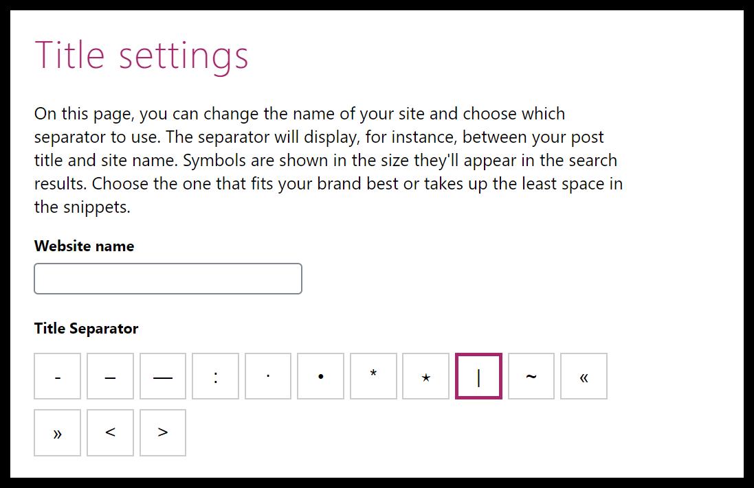 yoast title settings