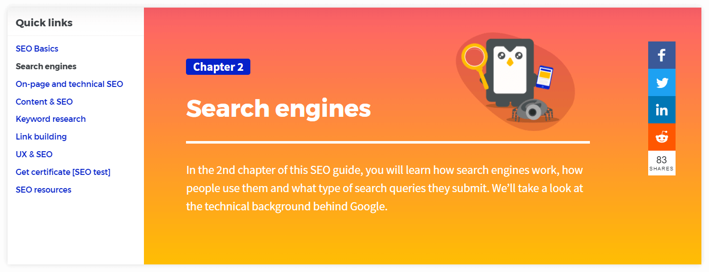 seo guide navigation chapter