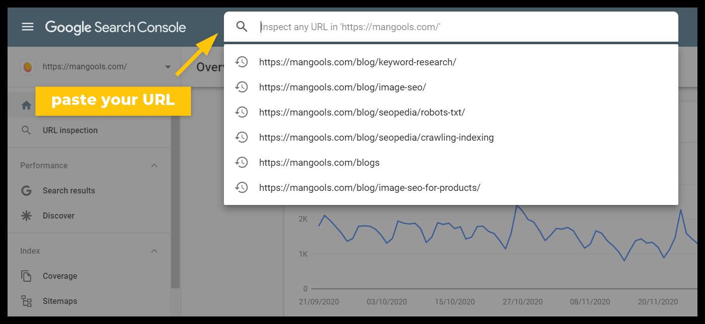 công cụ kiểm tra url bảng điều khiển tìm kiếm của google